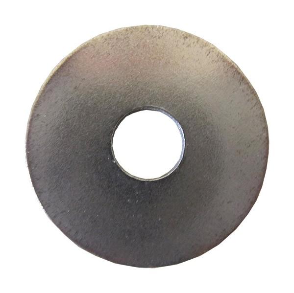 100 Vis /à T/ôle cruciforme t/ête bomb/ée plate avec rondelle galvanis/é noir 4,8 x 13 mm