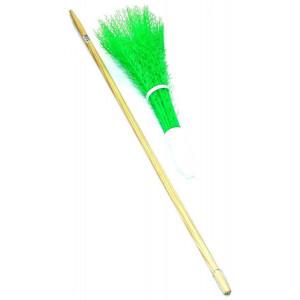 Balai de voirie vert fluo