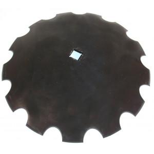 Disque de cover crop carré de 31 crénelé diamètre 610 épaisseur 6