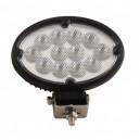 Phare de travail oval 36 W 2400lm 12 LEDS