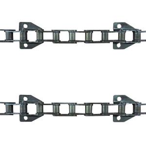 Jeu de 2 chaînes de convoyeur N°10 IH/case axial 1460-1480-1660-1680 renf. (12.b)