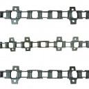 Jeu de 3 chaînes de convoyeur JOHN DEERE 9540 9560 9580(i) WTS 9780(i) CTS C670 T550 T560 W540 W550 (CA557)