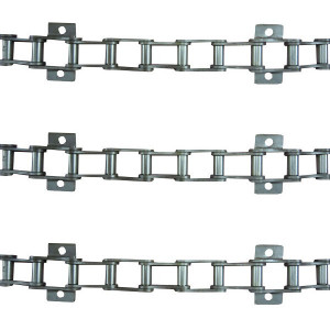 Jeu de 3 chaînes de convoyeur N°12 LAVERDA /FIAT 3600-3650-3700/50/90 avec tambour