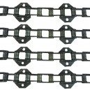 Jeu de 4 chaînes de convoyeur N°14 LAVERDA /FIAT L624/25/26/27 stand. avec tambour (sans flottation latérale)