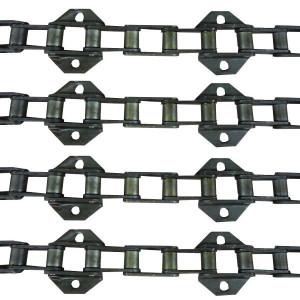 Jeu de 4 chaînes de convoyeur N°14 LAVERDA /FIAT L624/25/26/27 sans tambour (ou avec tambour et flottation latérale) standard