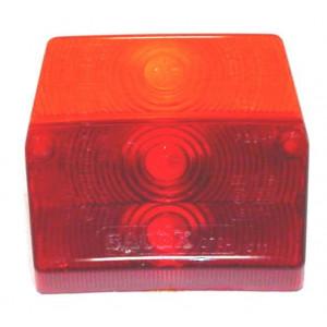 Cabochon Sacex arrière rouge/orange