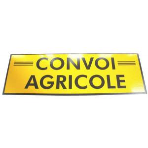 Panneau « Convoi agricole » 1200 × 400 simple face (rigide)