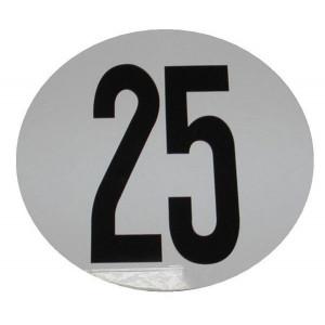 Disque limitation vitesse 25Km/h rigide PVC