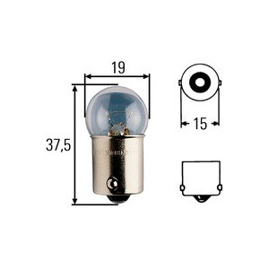 Ampoule feu clignotant Hella 12 V culot 10 W