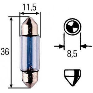 Ampoule, feu éclaireur de plaque Hella 12 V 5 W (Navette)