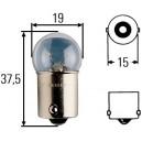 Ampoule, feu éclaireur de plaque Hella 24 V culot 10 W