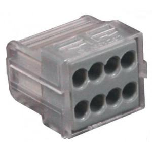 Lot de 6 connecteurs automatiques 8 trous pour fils 1,5/2,5mm²